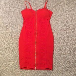 Red bandage dress